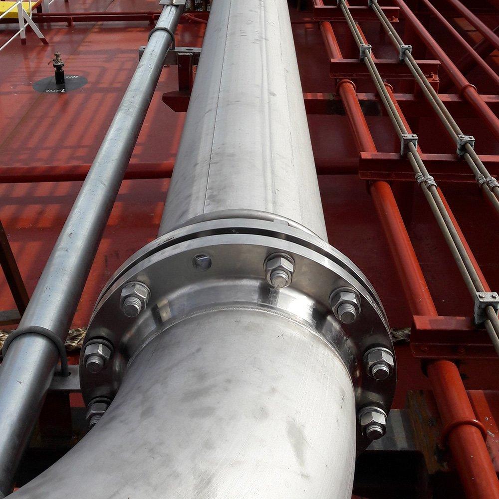 Rustfri rørsvejsning skibsindustrien